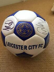 Leicester city FC autographed football