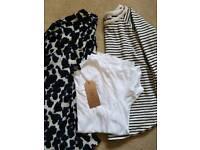 Large Black bag of tops UK Size 12-14 Next, Zara, Abandon Ship, Topshop, Primark, etc