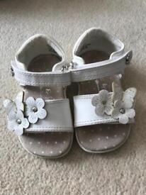 Next white sandals infant size 3