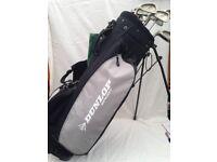 Dunlop Golf Bag and Left Handed Golf Clubs - Full Set 3,4,5,6,7,8,9,PW & Woods 1,3,5