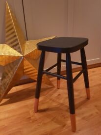 Navy and copper stool