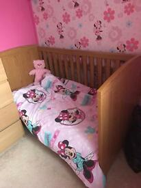 Mothercare cotbed and mattress