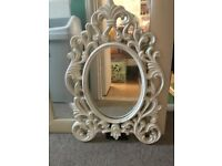 white framed oval mirror - ikea UNG DRILL