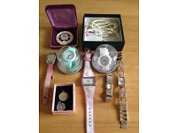Joblot of costume jewellery and watches