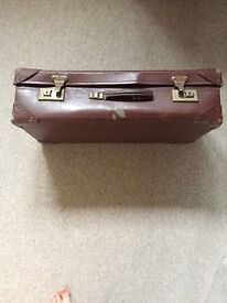 Vintage suitcase-small shabby chic suitcase