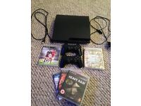 Playstation 3, 2 controllers and games.