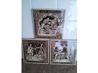 3 Antique Mintons Decorative Tiles