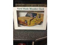 HAND MADE CLOCK SIGNED BY SIR DAVID JASON