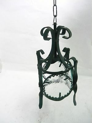 Lantern Lamp with 4 Glass round Wrought Iron