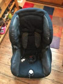 Maxi Cosy car seat (black and silver) - used