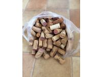 100 natural wine corks- straight - used - for use in arts & crafts etc
