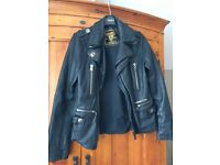 Ladies leather Superdry biker style jacket.