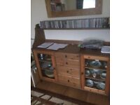 Brown(oak effect) wood sideboard