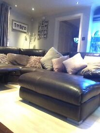 RHS electric recliner corner sofa