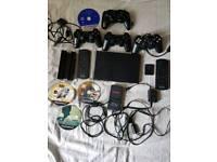 (SPARES/REPAIRS)PS2 SLIM+3GAMES+ACCESORIES