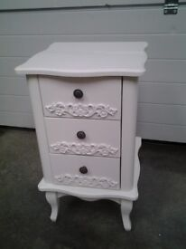 Ex display Bedside cabinet. French style IVORY colour. Can deliver.