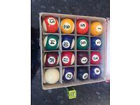 Boxed set of 'vintage' pool balls
