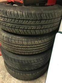 4 X 175/70/14 tyres and steel wheels