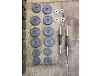 Pro power metal dumb bell set