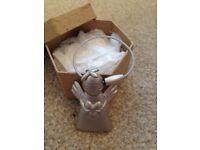 Brushed Silver Angel Keyring