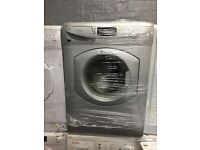 nice silver Hotpoint washing machine it's 6kg 1600 spin in excellent condition in full working order