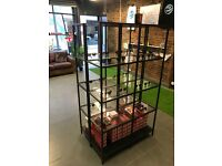 GLASS IKEA SHELVES x2 - NEAR NEW - NEED TO MOVE