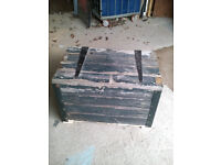 Wooden Trunk – Made with re-claimed wood original paintwork