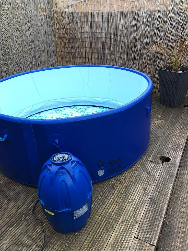 Lay z spa Monaco hot tub. Air jet inflatable spa seats 6-8   in ...