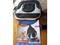 Pet carrier, body worn. Suitable for young , old or poorly pets that cannot walk far