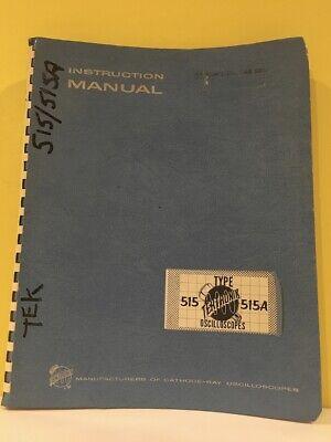 Tektronix 070-247 Type 515 515a Oscilloscopes Instruction Manual