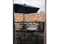 Garden Balcony Parasol 2m - Blue