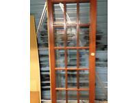 2 glass panelled doors