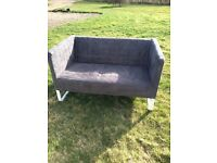 Ikea knopparp sofa in Grey