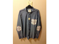 Mens size XL blue long sleeve shirt from Denim & Co - Brand new still has labels on