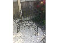 Cast iron Horseshoe garden Set