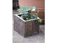 Rustic upcycled pallet planters/troughs/boxes and trays