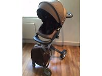 Stokke Xplory V3 stroller, complete set - chassis, seat unit, carrycot, shopping bag