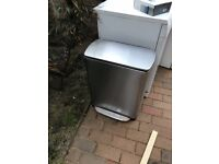 SimpleHuman Stainless Steel Kitchen Recycle Pedal Bin 46l