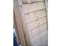 """New garden fence panels 6"""" x4"""" 13 of them treated"""