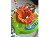 Like new! RRP £120 space saving fisher price rainforest Jumperoo bouncer chair