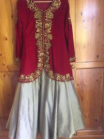 Red Indian dress - Urgently needs to go!!!!!!!!