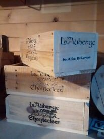 Vintage style rustic crates