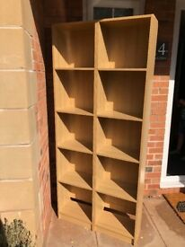 Pair of tall oak effect book casesfrom Tesco BARGAIN