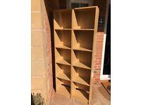Pair of tall oak effect book casesfrom Tesco BARGAIN