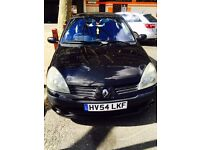 Black Renault Clio 1.4L Dynamique 16V 3Door ... 81K Miles** £890** (54 Plate)