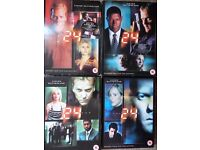 First 4 seasons of 24 (4 DVD box sets stariing Kiefer Sutherland) £3 each / £10 for all 4
