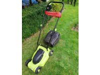 Compact Electric Lawnmower For Sale. 32cm Cutting width.