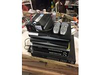 2 CCTV recorders 2 sky boxes 12v inverter
