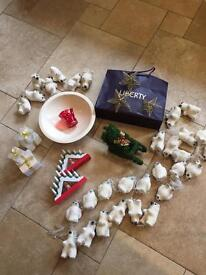Box Of Christmas Decorations (18 Pieces) - Includes 3 Gold Stars From LIBERTY OF LONDON