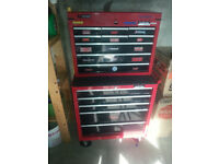 Halfords toolbox with tools